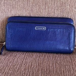 Coach Pebble Leather Zip Around Wallet